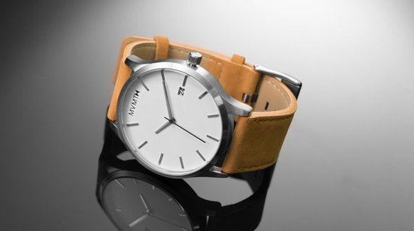 MVMNT Watch  //   White/Tan Leather  //  $95.00
