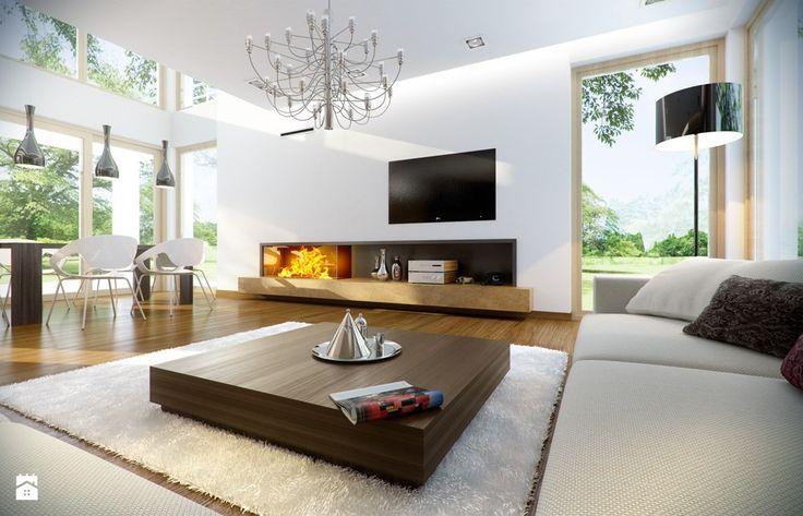 Projekt domu Riwiera 2 - Salon - Styl Nowoczesny - MG Projekt Pracownia Architektoniczna