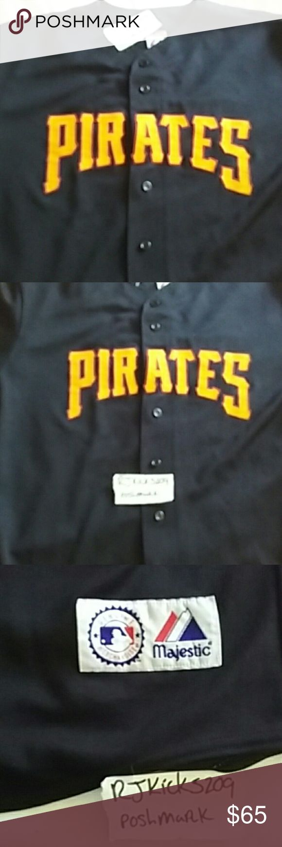 Pittsburg pirates mlb jersey Classic pittsburg pirates jersey #52. 9/10 condition   Please be Purchase ready, address confirmed and account verified (otherwise will result in cancelled order)  If you message or place an offer me it's because you're ready to purchase immediately. If that's not you intentions please refrain from doing so (you will get blocked)  All details of the item are listed.  No lowballs, low offers or unrealistic offers,no trades! Thanks Majestic Other