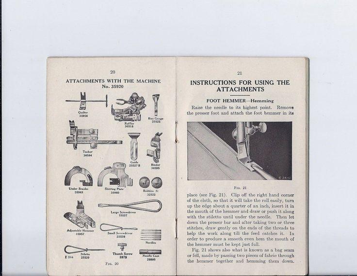 singer sewing machine model 66 manual