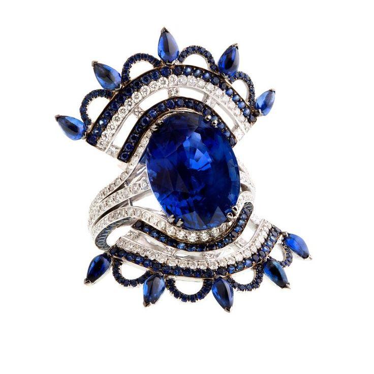 John Rubel Ceylon sapphire ring