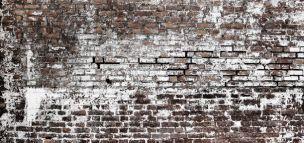 Gemetselde muur; stoer behang voor een tienerkamer.