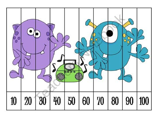 Number Puzzles - Count by Tens from Klever Kiddos on TeachersNotebook.com -  (5 pages)