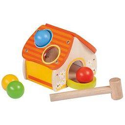 Jouéco - Houten Hamerspel huis #houtenspeelgoed #speelgoed #houtenhamerspelhuis #educatiefspeelgoed #jueco #babyspeelgoed #peuterspeelgoed