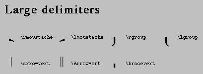 LaTEX Large Delimeters