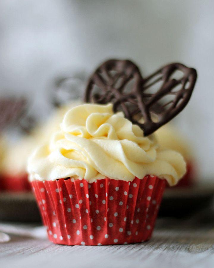 cupcakes röda choklad