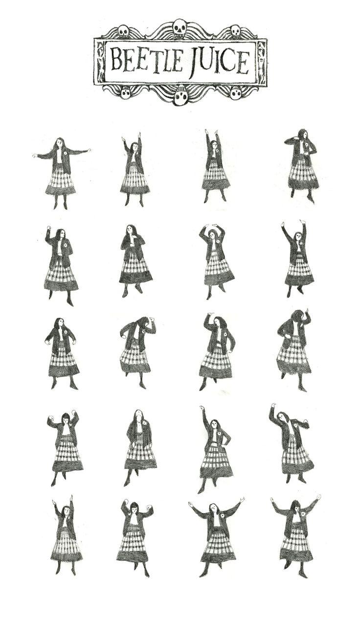 mollymartinillustration: Beetlejuice Dance