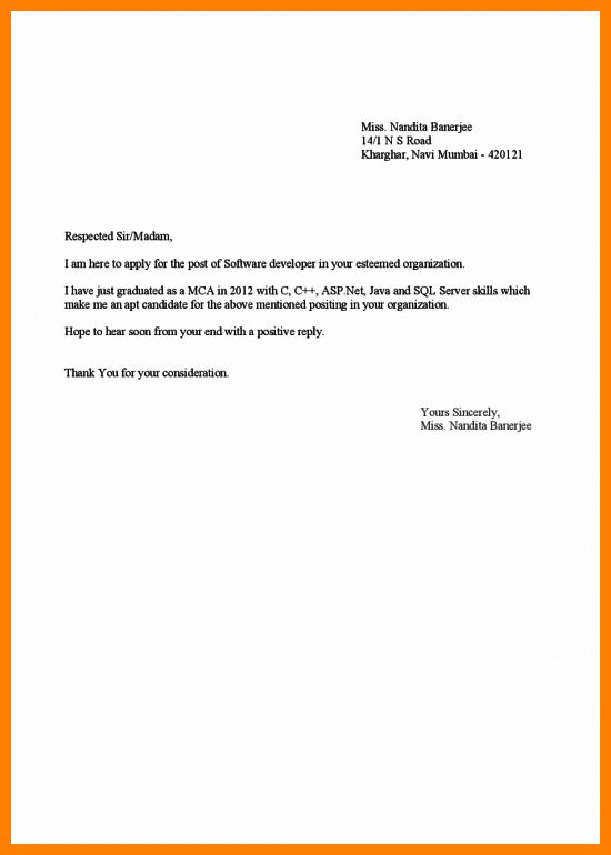 Inspirational Cover Letter For Fresher Teacher Job Application 78 About  Remodel Resume Cover Letter Examples With  Job Application Cover Letter Format