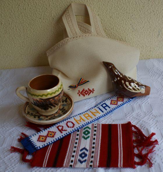 Set cadou traditional romanesc, suvenir