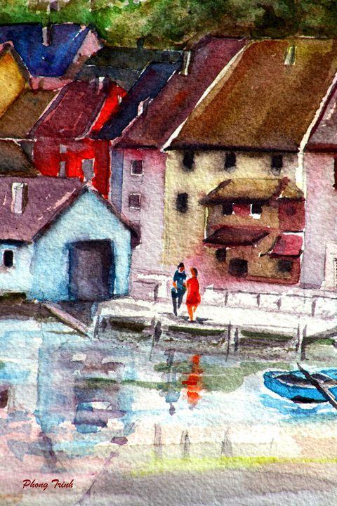 Lods Sur La Loue 19 - Phong Trinh Watercolor Fine Art Print Avail. At: http://www.artpal.com/phongtrinh/