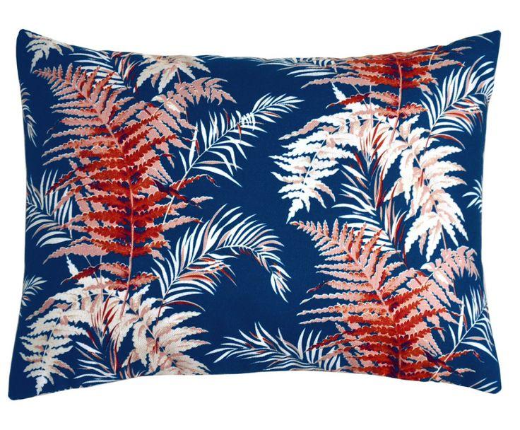 coussin, cushion,feuilles, exotique Heritage Studio, linge de maison, Louise