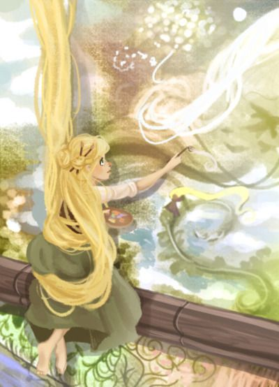Tangled ... from The Art of Disney ... thatartsygirl: