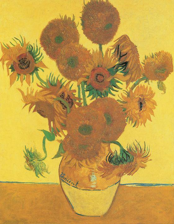 Vincent van Gogh, Vase with Fifteen Sunflowers, 1888