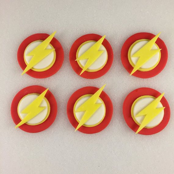 FLASH Cupcake Inspired Toppers Fondant by KedulceSugarDesigns