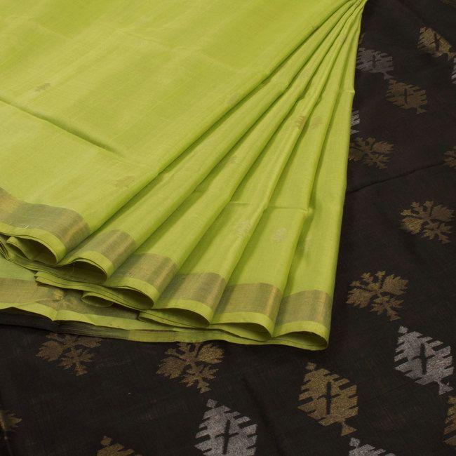 Ghanshyam Sarode Green Handwoven Uppada Jamdani Silk Saree 10009454 - profile - AVISHYA.COM
