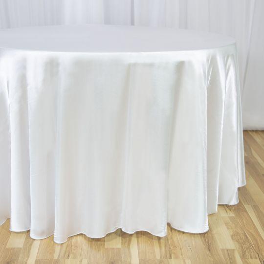 108 In Round Satin Tablecloth Luxury Wedding Decor Elegant Table Round Tablecloth