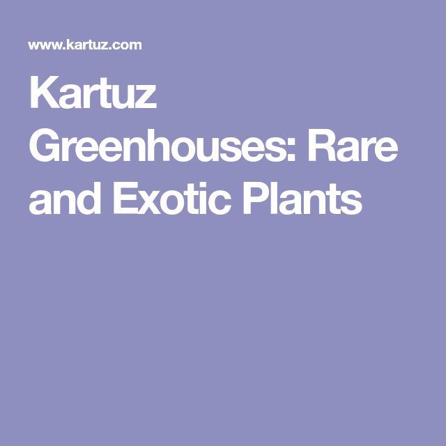 Kartuz Greenhouses: Rare and Exotic Plants