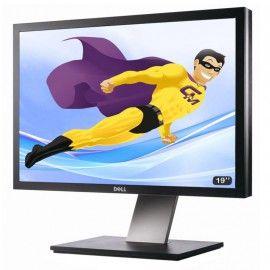 "Ecran Plat PC 19"" LCD DELL P1911B 48cm 1440x900 Réglable DVI VGA USB VESA"