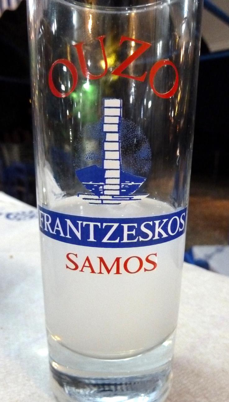 Bij de rekening krijg je gratis een glaasje Ouzo aangeboden in Griekenland