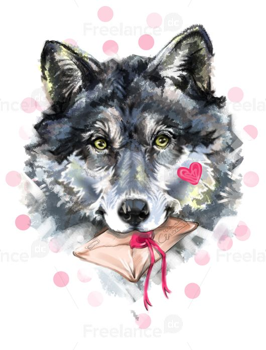 Wolf. Aquarelle.   #wolf #aquarelle #graphic #vector #freelancer #freelancediscount #freelancecreative Buy for $ 3.