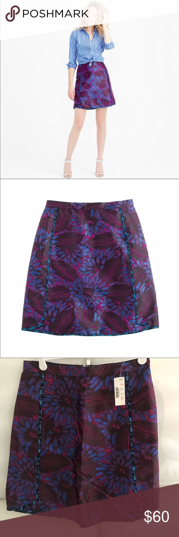JCrew skirt in midnight floral Never worn before. Too big on me. Feel free to offer! Length: 18-18.5 inches. Waist: Approximately 14 inches. J. Crew Skirts