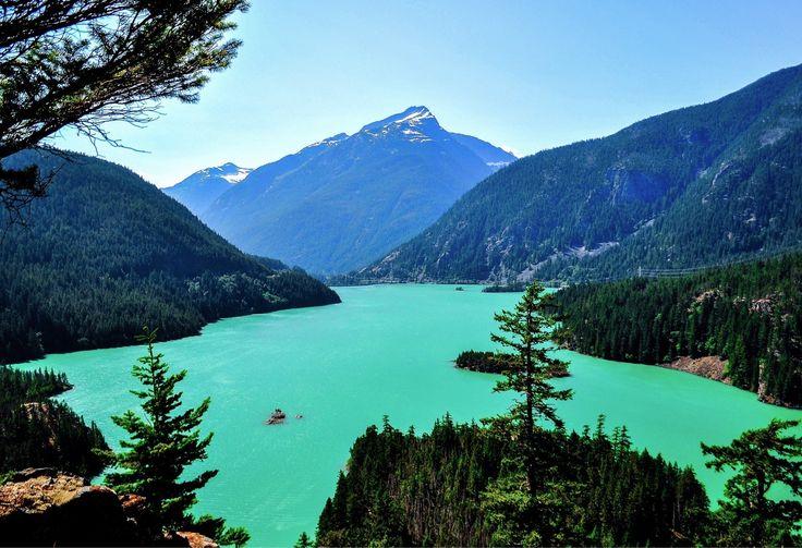 Diablo Lake, Whatcom County, Washington - Diablo Lake is a...