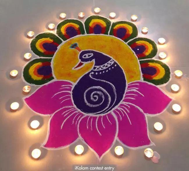 Contest entry My 2015 Diwali rangoli Diwali rangoli contest - 2015 | www.iKolam.com