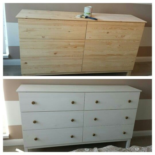 Ikea komoda before & after