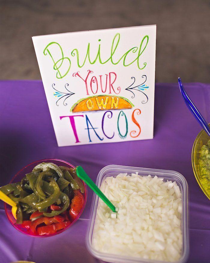 Taco bar from an Elena of Avalor Inspired Birthday Fiesta on Kara's Party Ideas | KarasPartyIdeas.com (24)