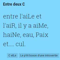 C elLe - Entre deux C