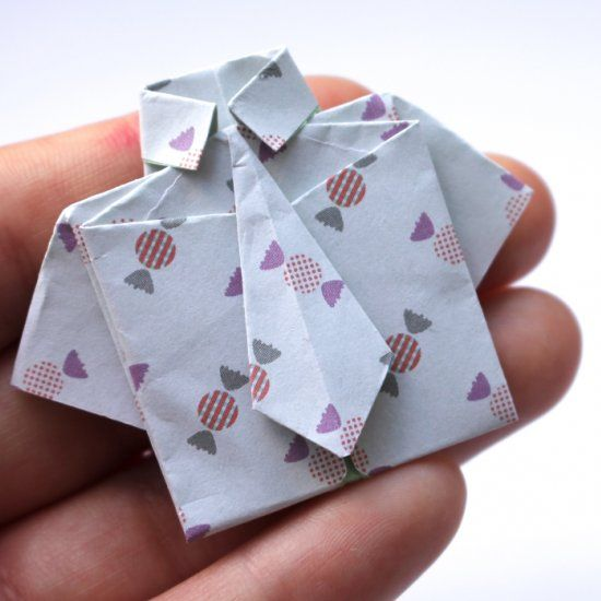 Make this cute little origami shirt with this simple tutorial!