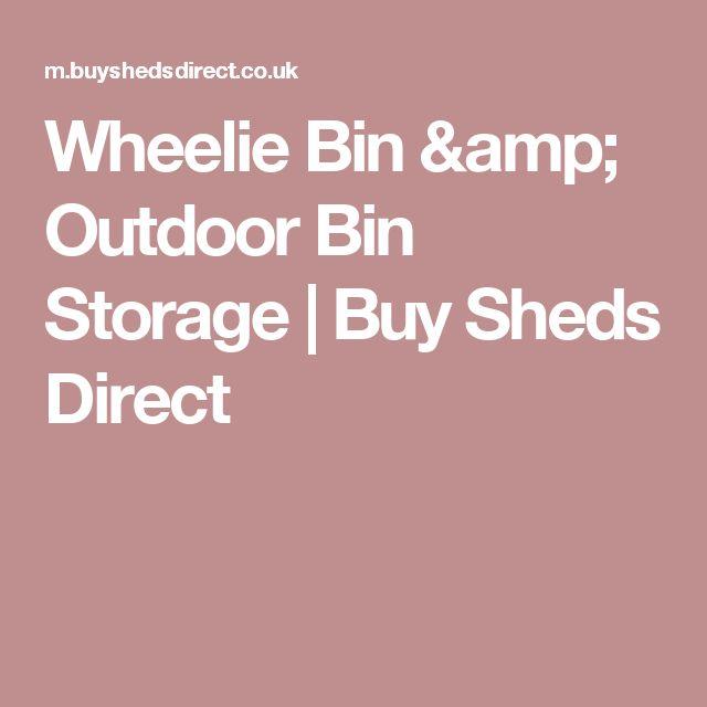 Wheelie Bin & Outdoor Bin Storage | Buy Sheds Direct