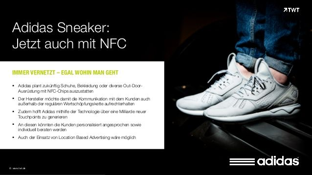 TWT Trendradar: #Adidas Sneaker mit NFC-Chips
