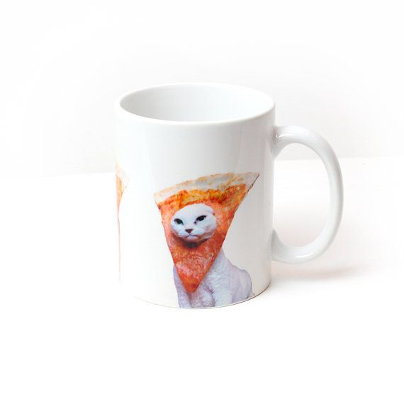 Pizza Cats Mug Cup by Memeskins on Etsy