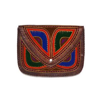 VIDA Leather Statement Clutch - Wayang small clutch by VIDA 4ouYUNRci
