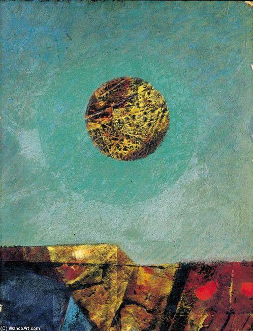 'Paisaje con Luna', óleo de Max Ernst