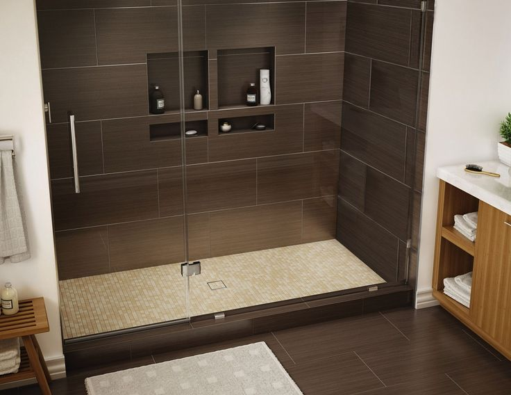 Wonder Drain Shower Pan, 34 X 60, Center Tileable Drain, Single Curb