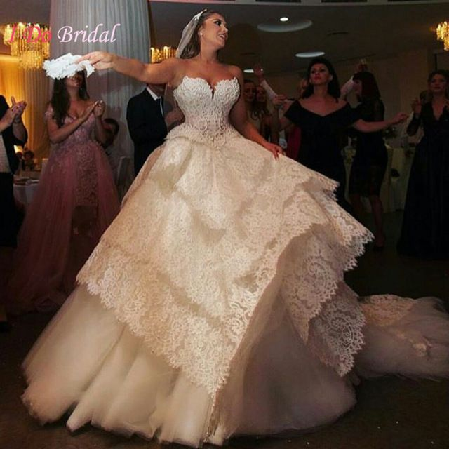 Spectacular Arab Lace Wedding Dresses Turkey Sweetheart Ball Gown Country Bridal Gown Princess Pearls Alibaba Retail Store
