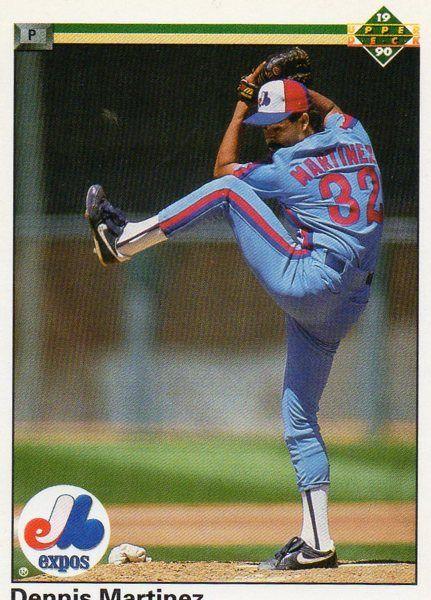 1990 Upper Deck Baseball Card Expos Dennis Martinez