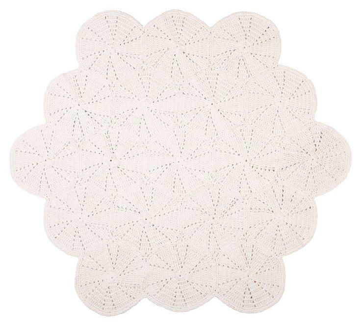 Large crochet floor matt - white $150.00 Elephant Sorrento