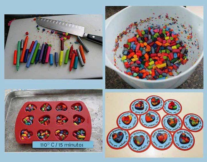 Como hacer crayones multicolores #creatividad #niños #crayolas