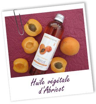 Huile végétale Abricot:  effet anti-âge et rajeunissant sur tous les types de peau; donne une bonne mine; constitue une excellente base pour les mélanges d'huiles essentielles et le massage