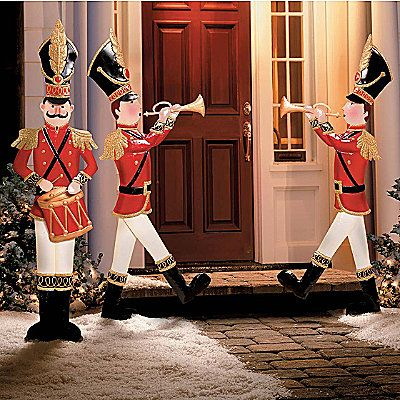 Large Toy Soldiers Christmas Decor