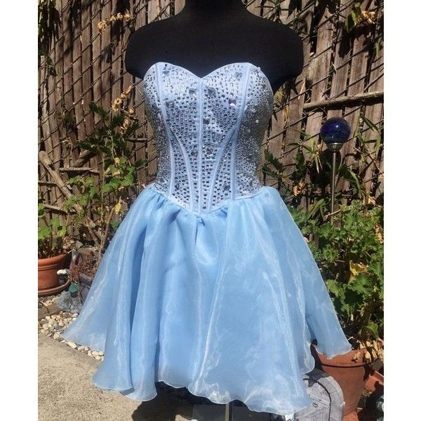 Corset prom dresses ❤ liked on Polyvore featuring dresses, blue corset dress, corset cocktail dress, blue prom dresses, corset prom dresses and corset dress