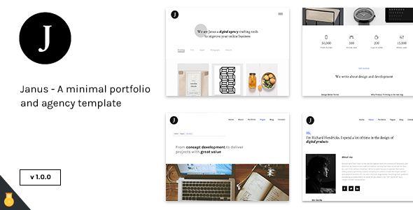 Janus - A minimal portfolio and agency template Site Templates / Creative / Portfolio by citruslabs