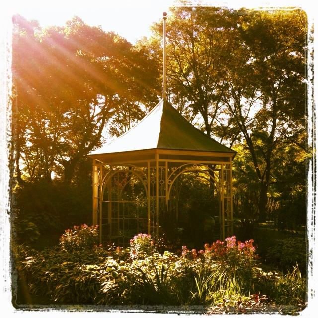 Gazebo at The Shakespearean Garden in Stratford, Ontario