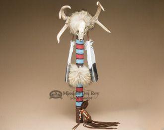 "Tigua Indian Skull Medicine Stick 28"""" - Manny Silvas (ms53)"