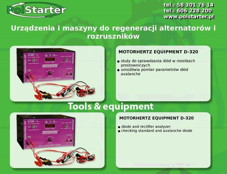 ⚫ W naszej ofercie znajdą Państwo Motorhertz Equipment D-320. Urządzenie służy do sprawdzania diód w mostkach prostowniczych oraz umożliwia pomiar parametrów diód avalanche.  ⚫Więcej informacji w linku:  ➜ http://www.polstarter.pl/maszyny-i-urzadzenia,52,pl.html  ✔ Odwiedź także naszą stronę internetową i sklep internetowy: ➜ www.polstarter.pl ➜ www.sklep.polstarter.pl  ⚫ KONTAKT: 📲 792 205 305 ✉ allegro@polstarter.pl  #rozrusznik #alternator #rozruszniki #alternatory #samochód #samochody