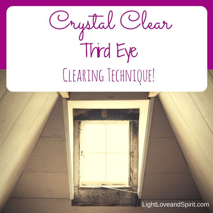 During a session a client's spirit guide gave a new technique for clearing the third eye!