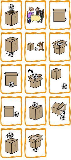 Preposiciones y adverbios de posición (La web del enlace ofrece conjuntos de tarjetas como este para descargar gratuitamente).